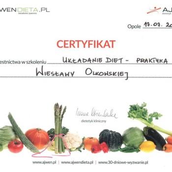 Iwona Wierzbicka szkolenie układanie diet - praktyka