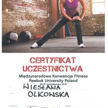 Certyfikat fitness reebok miedzynarodowa konwencja