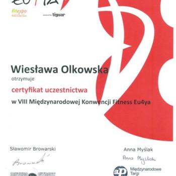 Certyfikat konwencja fitness eu4fa
