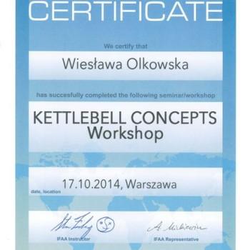 Certyfikat ze szkoelnia kettlebell warszawa