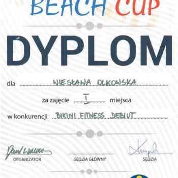 Dyplom z zawodów bikini fitness debity