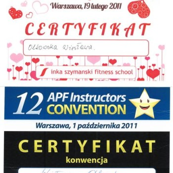 Certyfikat Walentynkowa Konwencja Fitness